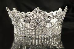 Zilveren diamantkroon Royalty-vrije Stock Afbeelding