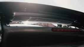 Zilveren dichte omhooggaand van de Autobumper stock footage