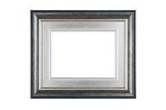 Zilveren die kader op wit met het knippen van weg wordt geïsoleerd Royalty-vrije Stock Foto's