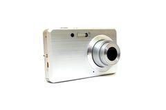 Zilveren digitale fotocamera Royalty-vrije Stock Afbeeldingen