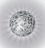 Zilveren discobal Stock Afbeeldingen