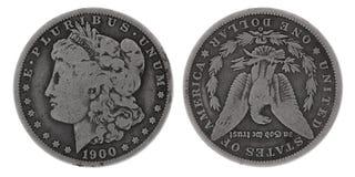 Zilveren dollar Stock Afbeelding