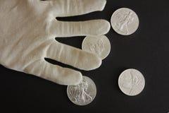 Zilveren dollar Royalty-vrije Stock Afbeelding