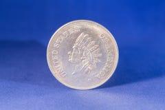 Zilveren dollarmuntstuk royalty-vrije stock afbeeldingen