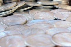Zilveren dollars Stock Afbeeldingen