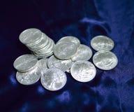 Zilveren Dollars Stock Foto