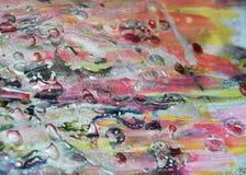 Zilveren donkere roze de verfachtergrond van de waspastelkleur op gebrande textuur Royalty-vrije Stock Afbeeldingen