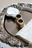 Zilveren doopvoorwerpen Stock Foto
