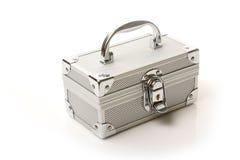Zilveren doos Stock Foto's