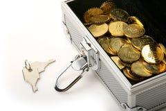 Zilveren doos Stock Fotografie