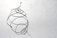 Zilveren draad spiraalvormige macro Royalty-vrije Stock Foto