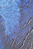 Zilveren en blauwe verf   Royalty-vrije Stock Foto's