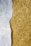 Zilveren en gouden achtergrond stock afbeelding