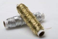 Zilveren en gouden dossiers Royalty-vrije Stock Foto