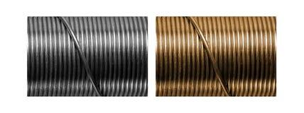 Zilveren en Gouden draadontwerpen Royalty-vrije Stock Foto's