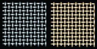 Zilveren en gouden net stock illustratie