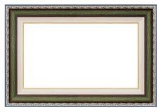 Zilveren en groen kader stock foto
