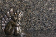 Zilveren engel Royalty-vrije Stock Afbeeldingen
