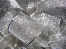 Zilveren fonkelend lint Stock Afbeelding