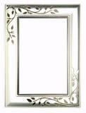 Zilveren frame Royalty-vrije Stock Afbeelding
