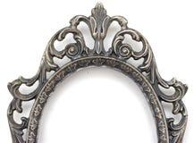Zilveren frame bovenkant Stock Afbeeldingen