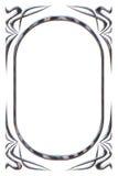 Zilveren frame in oude stijl Royalty-vrije Stock Afbeeldingen