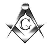 Zilveren freemasonsymbool Royalty-vrije Stock Foto's