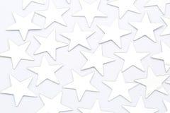 Zilveren geïsoleerde sterren Stock Foto's