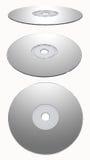 Zilveren Geïsoleerdee CD-rom Stock Foto's