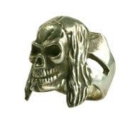 Zilveren geïsoleerden ring Royalty-vrije Stock Fotografie