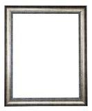 Zilveren geïsoleerdt frame Stock Foto