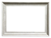 Zilveren geïsoleerdt frame Stock Afbeelding