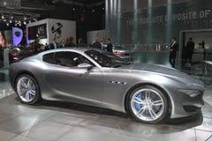 Zilveren Ghibli Maserati Parijs Auto toont Stock Foto