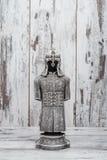 Zilveren Godsdienstig die Beeldje als Pantser wordt ontworpen stock foto