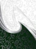 Zilveren golven op green Stock Afbeelding