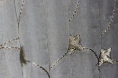 Zilveren & Gouden Blind de Vouwen Macroclose-up van het Patroongordijn stock foto