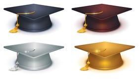 Zilveren, gouden en zwarte baret stock illustratie