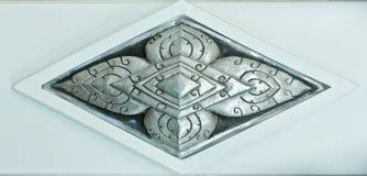 Zilveren gravures in Thaise stijl Stock Fotografie