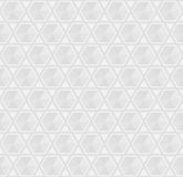 Zilveren Grey Seamless Geometric Background Pattern Royalty-vrije Stock Foto