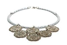 Zilveren halsband royalty-vrije stock foto's