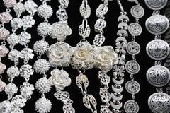 Zilveren Halsband Stock Afbeelding