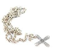 Zilveren halsband Royalty-vrije Stock Foto