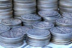 Zilveren halve dollars Royalty-vrije Stock Afbeeldingen