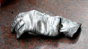 Zilveren handschoenen Stock Foto