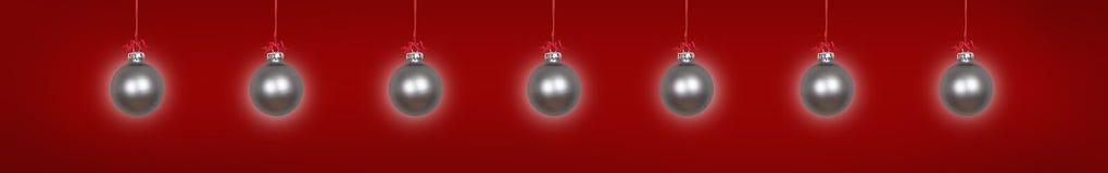 Zilveren hangende Kerstmissnuisterijen stock illustratie