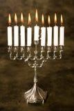 Zilveren hanukkah Stock Foto's