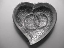 Zilveren hart Royalty-vrije Stock Afbeeldingen