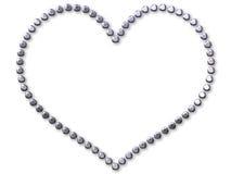 Zilveren hart dat met punten wordt gemaakt vector illustratie