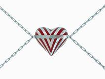 Zilveren harten Stock Afbeelding