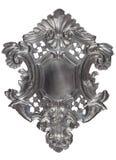 Zilveren heraldisch schild Royalty-vrije Stock Afbeelding